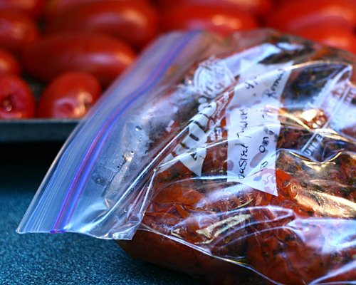 Slow-Roasted Tomatoes ♥ KitchenParade.com, roast low and slow for concentrated flavors, so rich and intense.