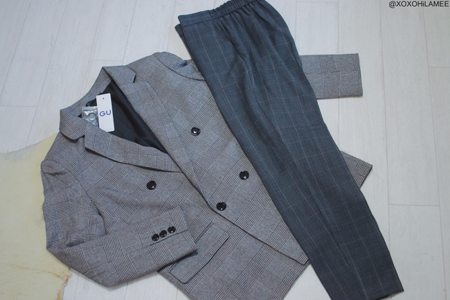 Japanese Fashion Blogger,MizuhoK,New in November,GU=glen check jacket,pants,