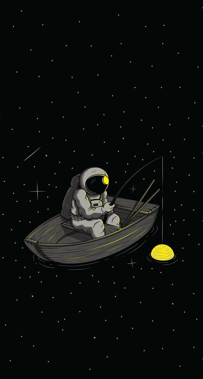 Hình nền phi hành gia cute