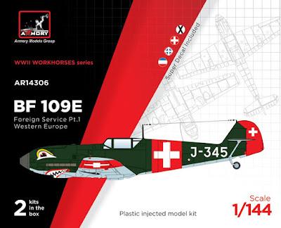 "AR14306 - 1/144 Messerschmitt Bf 109E ""Foreign Service Aces"", Pt.1 picture 1"