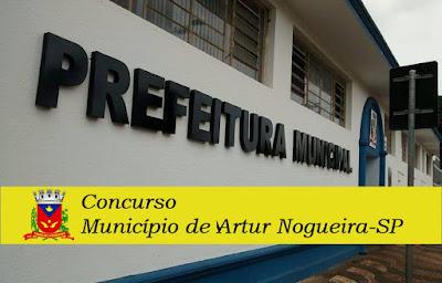 concurso Município de Artur Nogueira - Edital 2018