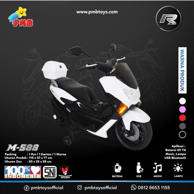 Spesifikasi PMB M-588, Mainan Motor Aki Mirip Nmax 155