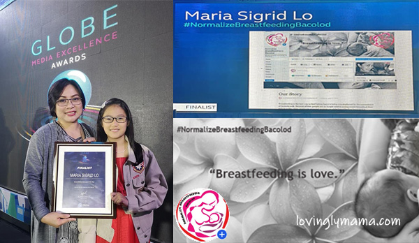 normalize breastfeeding in Bacolod campaign - benefits of breastfeeding - Bacolod mommy blogger- GMEA 2019 - Globe Media Excellence Awards - Globe Telecom - Social Media Advocacy of the Year - Mommy Sigrid