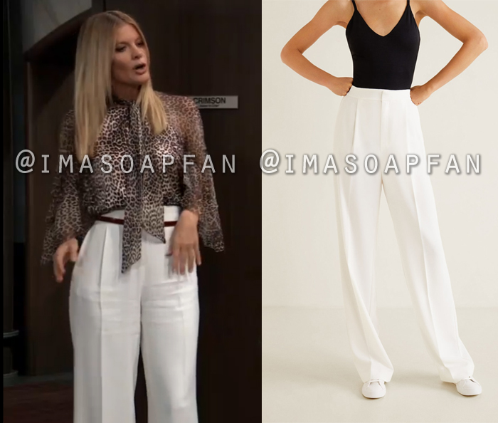 Nina Reeves, Michelle Stafford, Off-White High-Waist Palazzo Trousers, General Hospital, GH