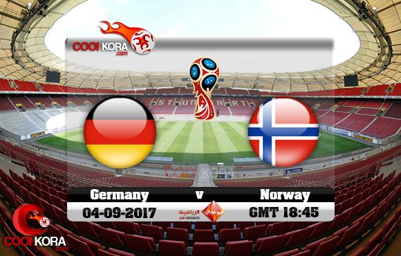 مشاهدة مباراة ألمانيا والنرويج اليوم 4-9-2017 تصفيات كأس العالم
