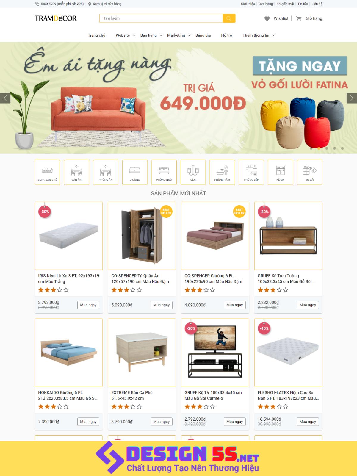 Theme blogspot bán hàng nội thất đẹp chuẩn seo VSM13 - Ảnh 1