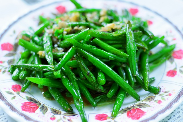Nice Salad Plate Filled with Freshly Steamed Green Beans