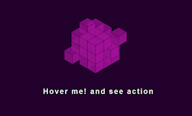 pure CSS tricks Rubik's cube animation with SVG