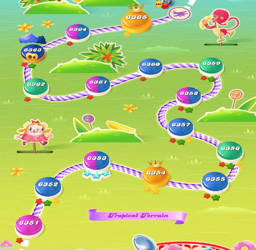 Candy Crush Saga level 6351-6365
