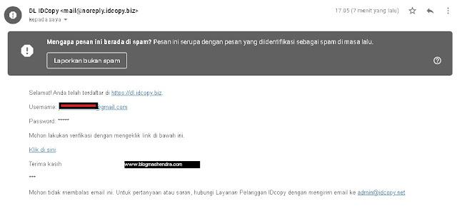 Verifikasi Dikirim ke Email