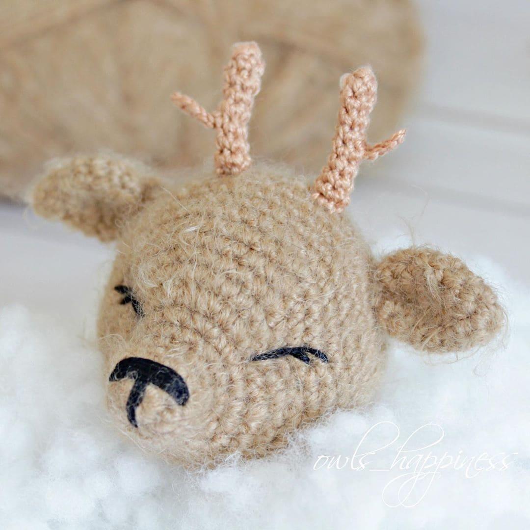 Crochet deer tutorial head