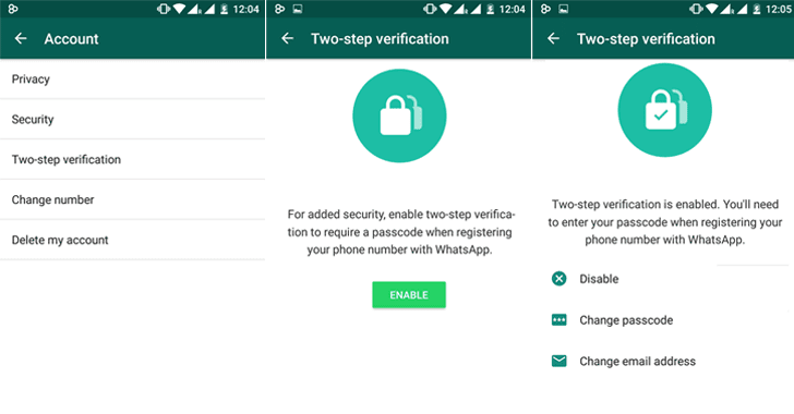Enable WhatsApp​ ​Two-Step Verification Passcode