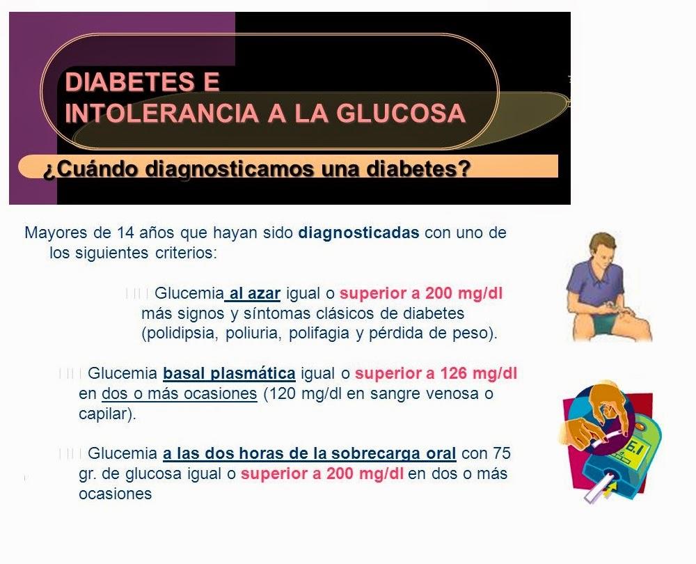 intolerantes signos de diabetes