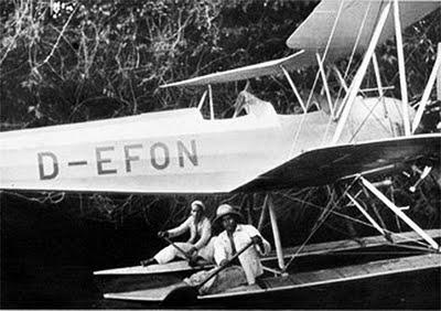 L'hydravion de l'expédition nazie en Amazonie