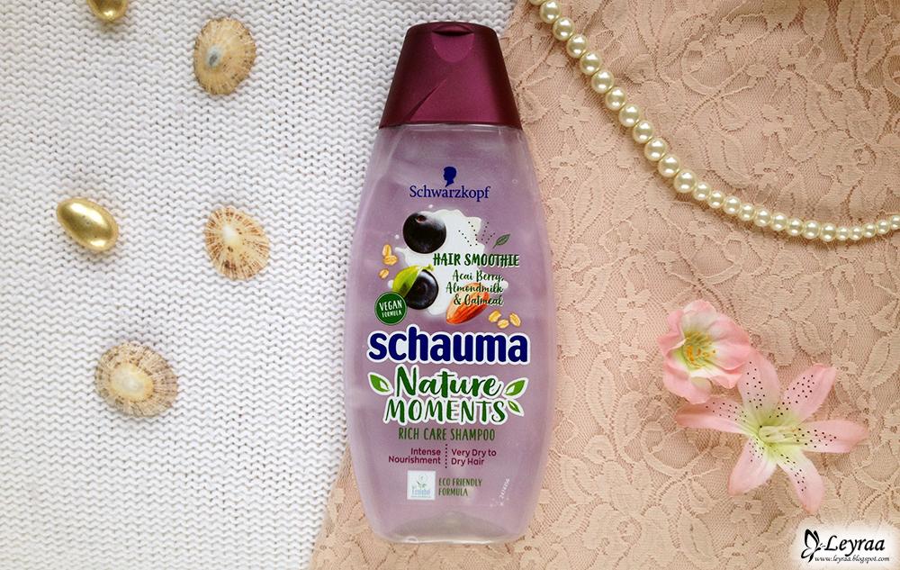 Schwarzkopf Schauma, Nature Moments, Hair Smoothie, szampon do włosów Jagody acai, mleko migdałowe i owies