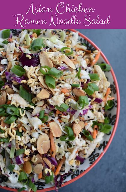 Asian Chicken Ramen Noodle Salad