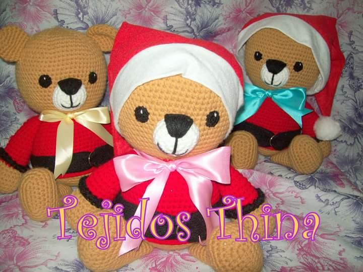 Amigurumis Navideños Patrones Gratis : Tejidos thina: patrÓn gratis de osito navideÑo amigurumi