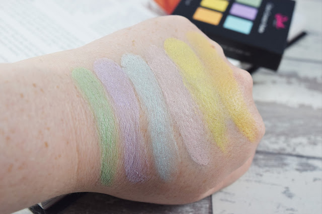 Sleek MakeUP Colour Corrector Palette swatches