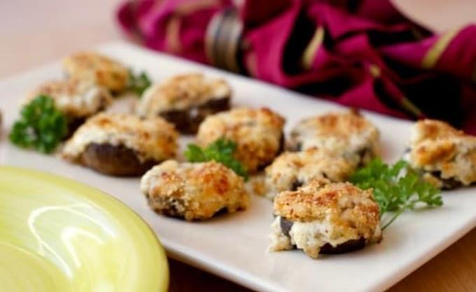 Three Cheese Stuffed Mushrooms (Low Carb, Keto, Primal, GAPS) #keto #snacks