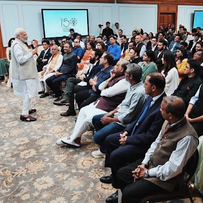 Modi ji with Bollywood celebrates