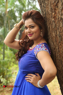 Actress Ashwini Stills in Blue Chudidar at Ameerpet Lo Release Press Meet  0155.JPG