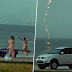 Saat Terakhir Seorang Wanita Sebelum Disambar Kilat Di Tepi Pantai