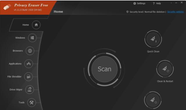 تحميل برنامج حذف سجل التصفح نهائيا Privacy Eraser Free