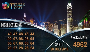 Prediksi Togel Angka Hongkong Sabtu 20 Juli 2019