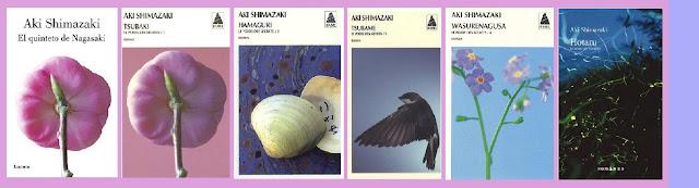 Portadas de la novela contemporánea e histórica El quinteto de Nagasaki