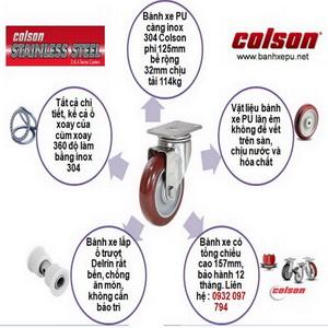 Bánh xe PU càng inox 304 Colson có ưu và nhược điểm như thế nào ?