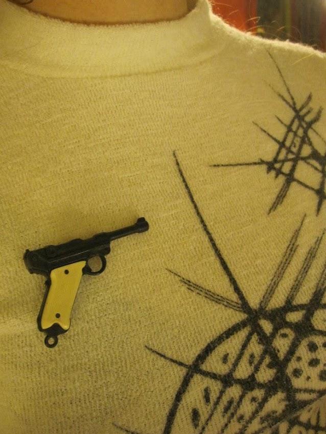 70s gun brooch 1970s vintage