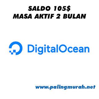 JUAL AKUN DIGITAL OCEAN SALDO $105 MASA AKTIF 2 BULAN