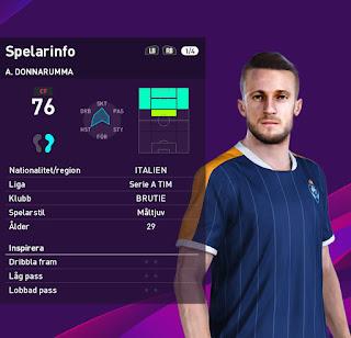 PES 2020 Faces Alfredo Donnaruma by Emilang