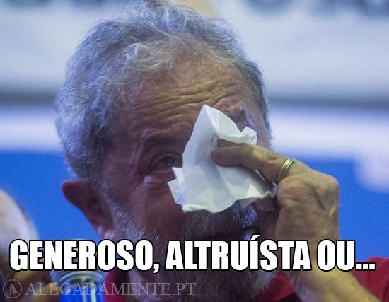 Imagem do Lula da Silva – Lágrimas de Jacaré?