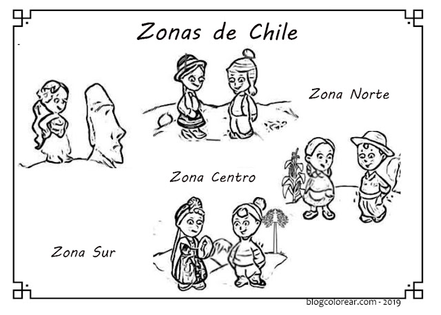 colorear aymaras de Chile