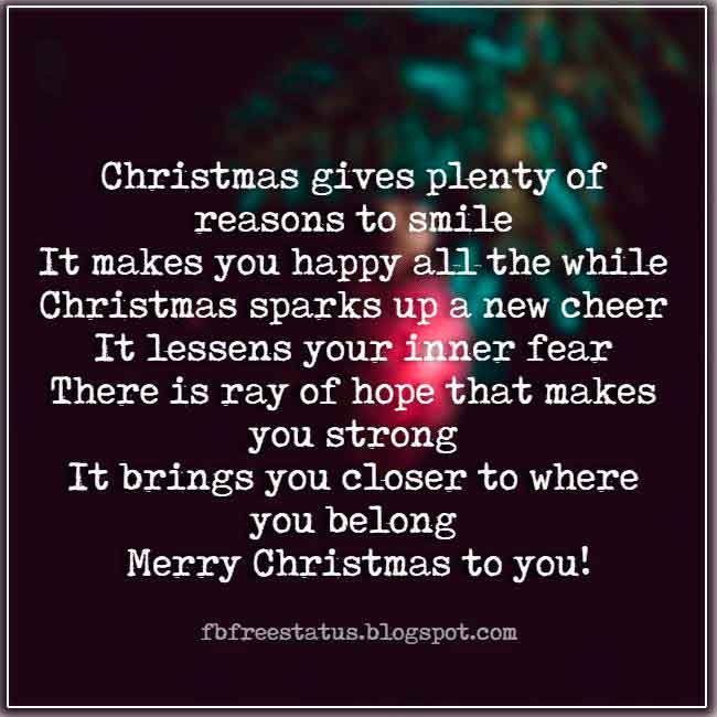 Christmas saying for cards and Christmas Pic