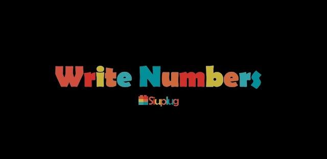 123 Write Numbers - Aplikasi Android Belajar Menulis Angka untuk Anak