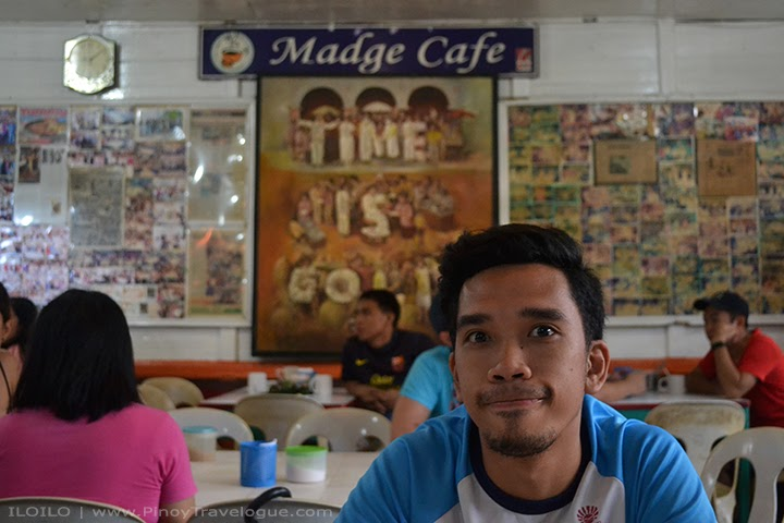 The author at Madge Cafe, Iloilo City