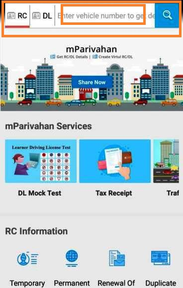 Driving License Check Status Mparivahan Apps