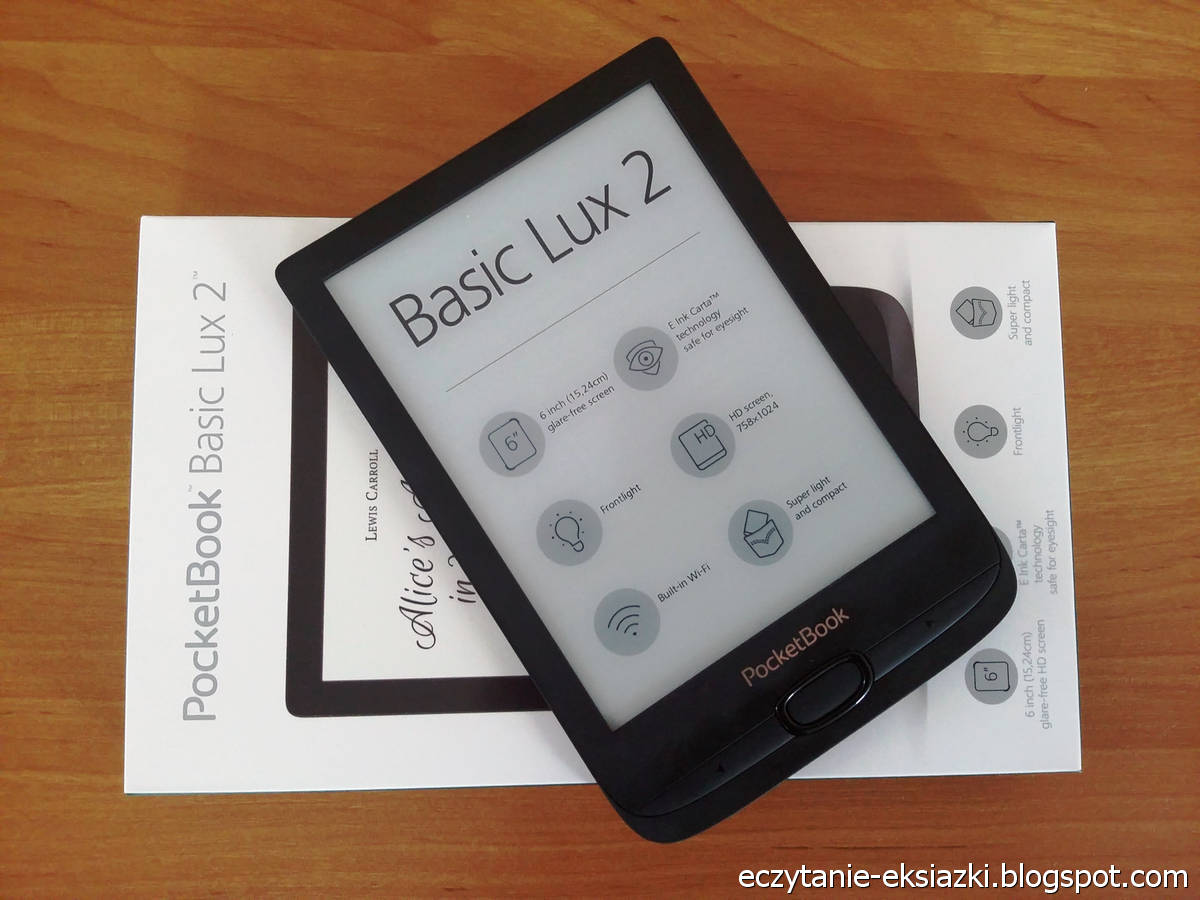 PocketBook Basic Lux 2 - czytnik i opakowanie