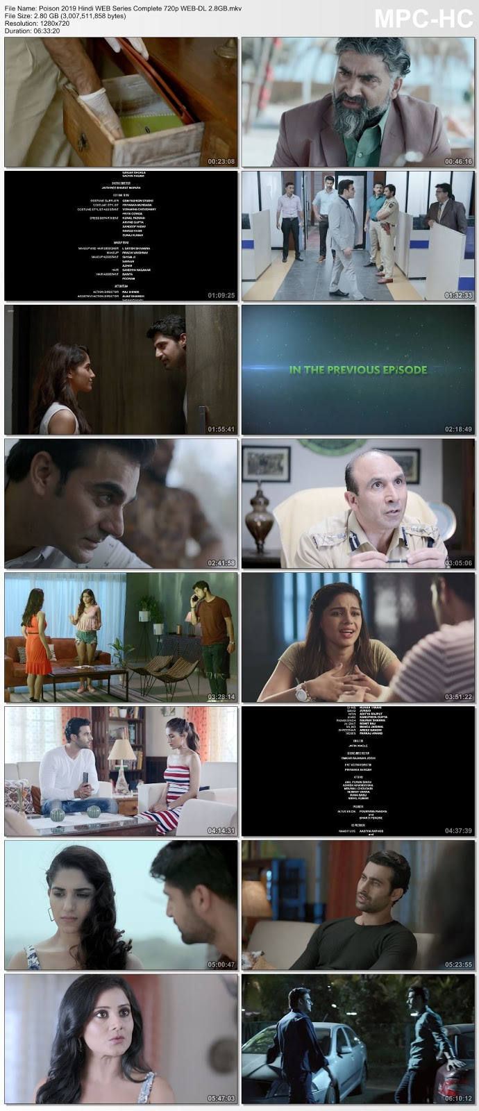 Poison 2019 S01 Complete Hindi 720p WEB-DL 2.8GB Desirehub