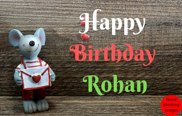 Happy Birthday images with name rohan