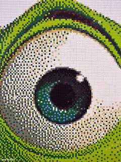 lego pointillism wazowski