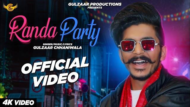 Randa party by gulzaar chhaniwala lyrics latest haryanvi song 2020