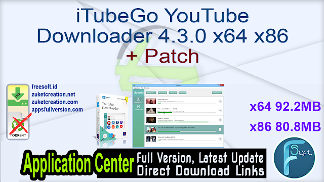 iTubeGo YouTube Downloader 4.3.0 x64 + Patch