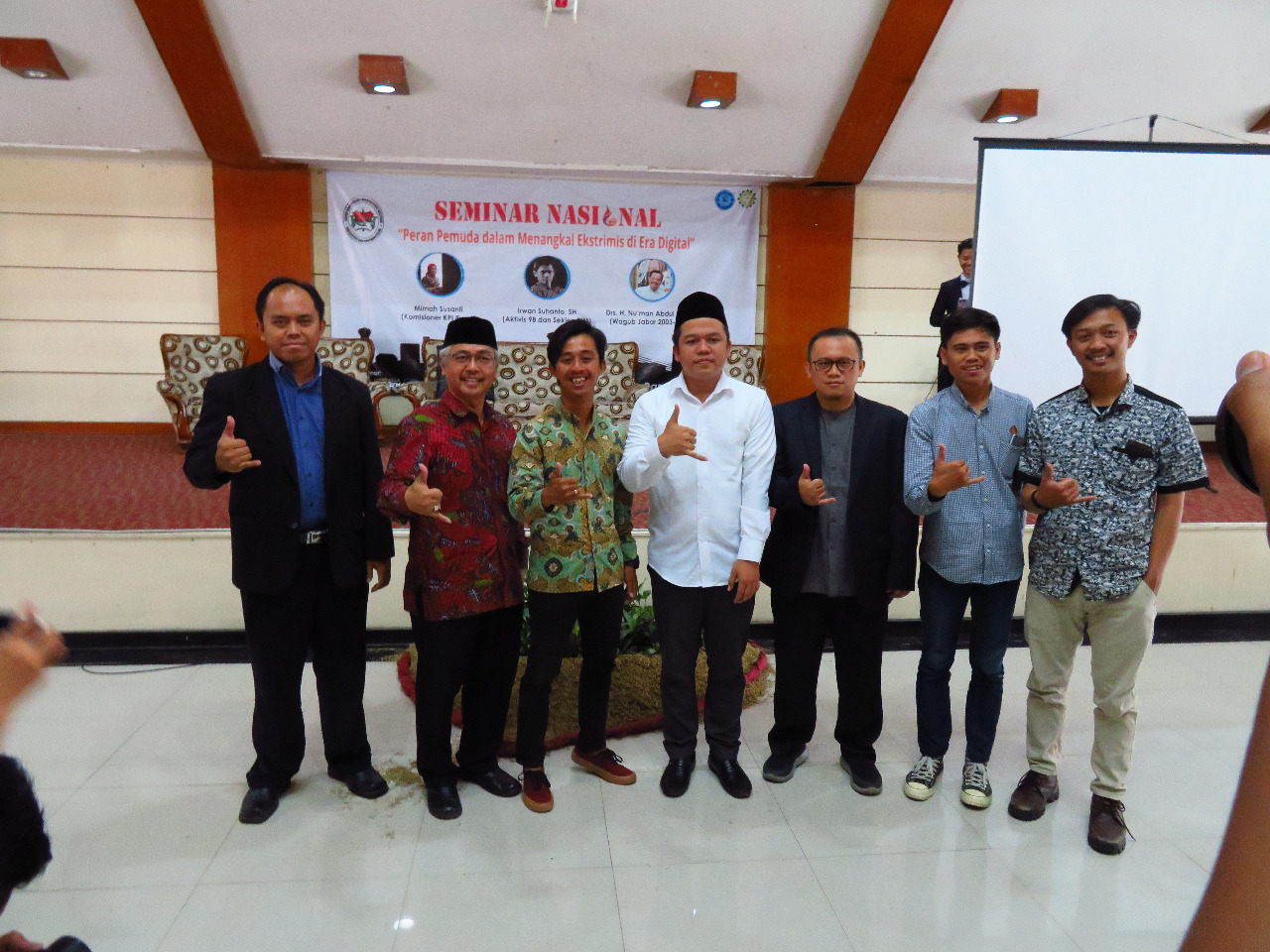 """Seminar Nasional : """"Peran Pemuda Menangkal Ekstrimis Di Era Digital"""""""