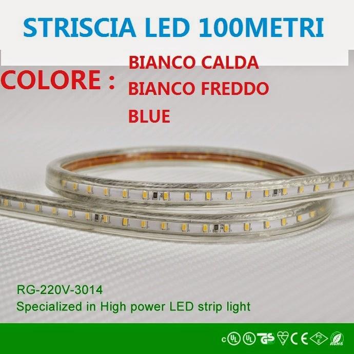 Striscia strip bobina led smd 3014 220v varie misure e for Led alta efficienza
