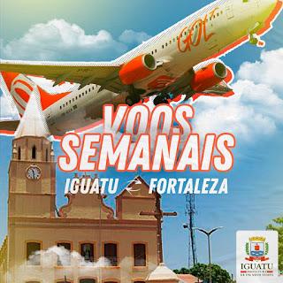 Resultado de imagem para Chegada do primeiro voo de Fortaleza para Iguatu será nesta terça-feira (18)