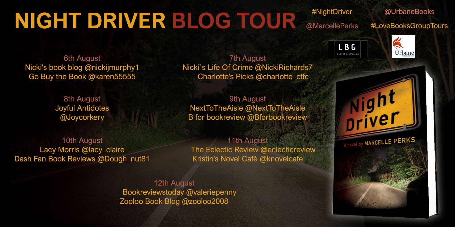 Night Drive Book Tour Information Dates