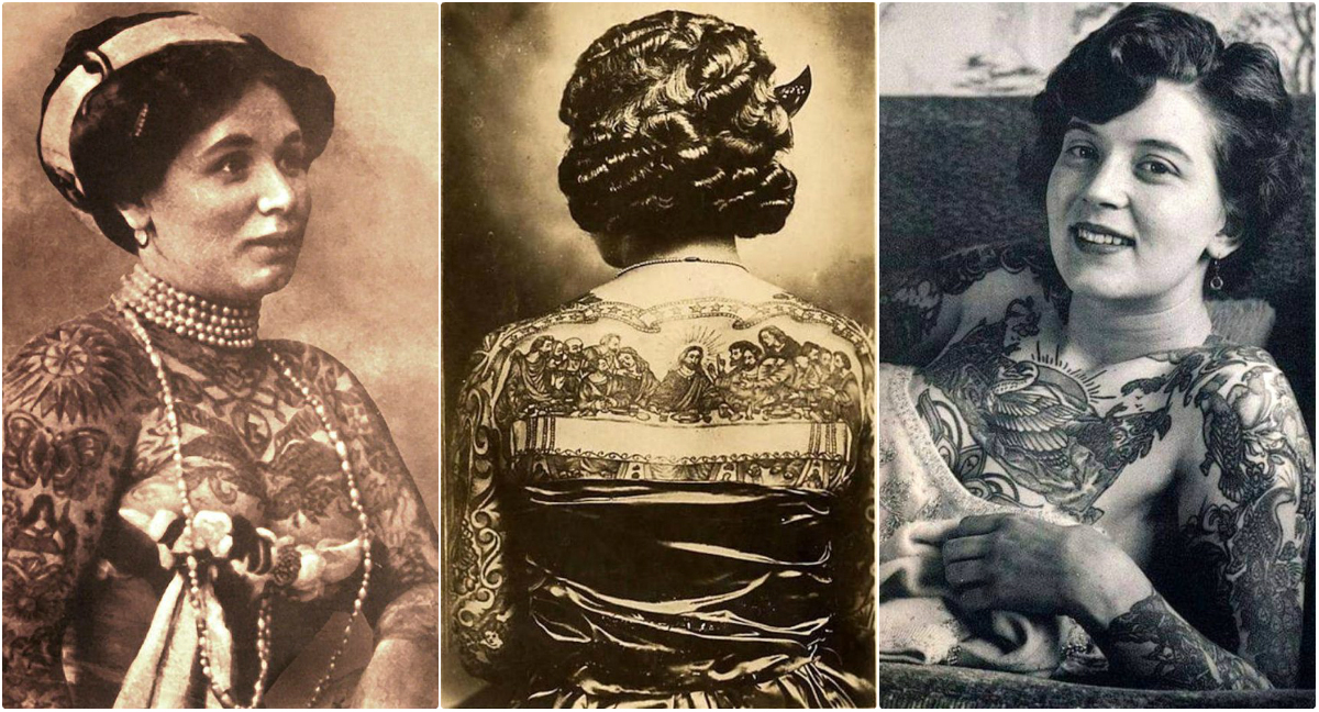 Before Tattoo Was Popular: 30 Cool Pics of Tattooed Ladies From the Early 20th Century